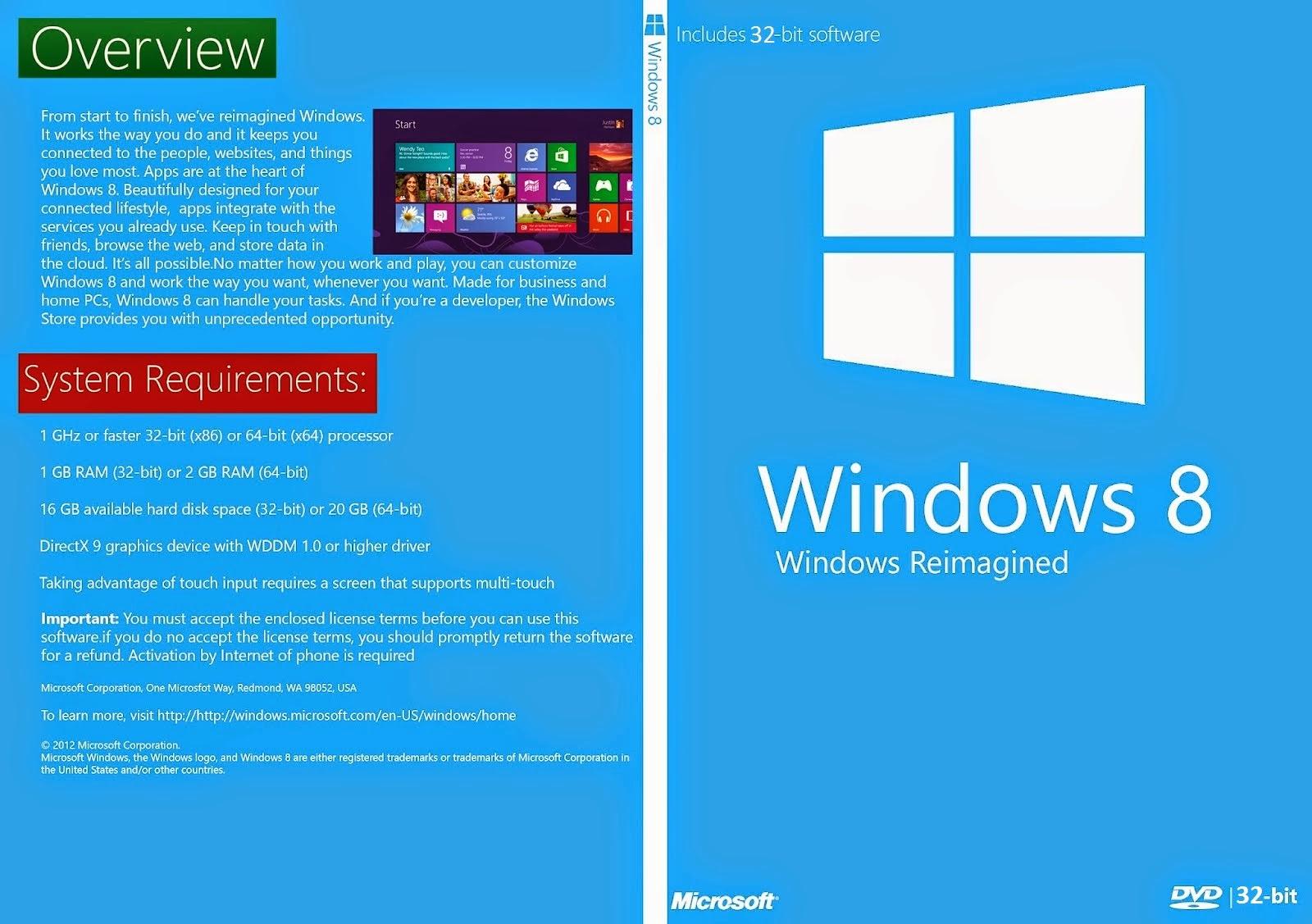 Windows 8 x86 Bits DVD Capa