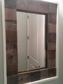 Barnwood Scrap Mirror Frame