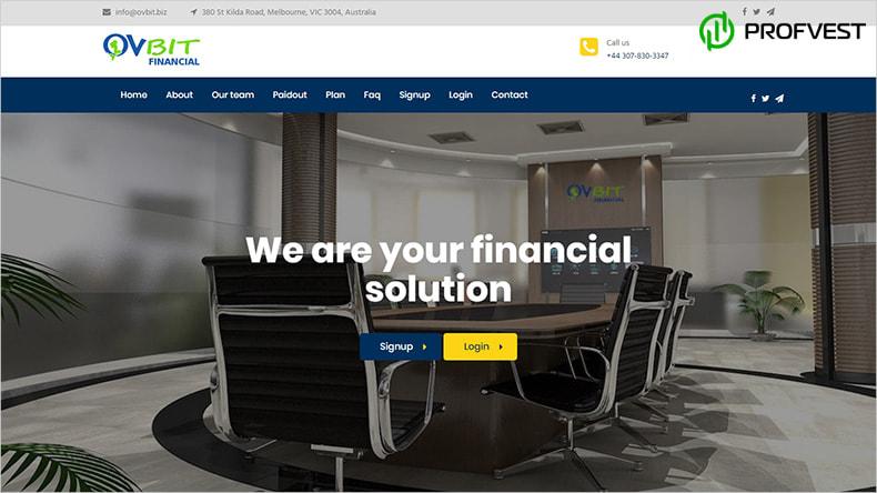 Ovbit Financial обзор и отзывы HYIP-проекта