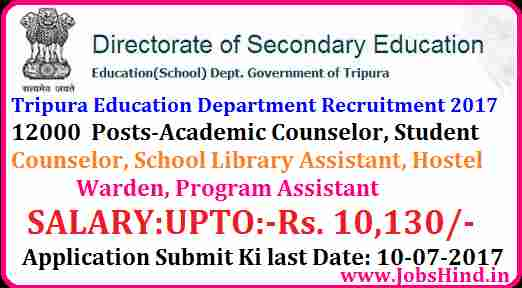 Tripura Recruitment 2017