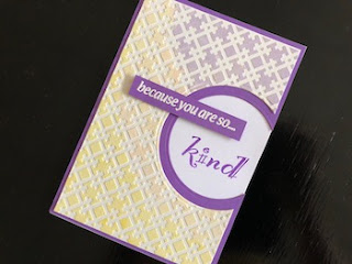 Hand Made Kindness Card Stencilled with Coloured Texture Paste