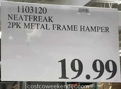 Deal for a 2 pack of NeatFreak Metal Frame Basket Hampers at Costco