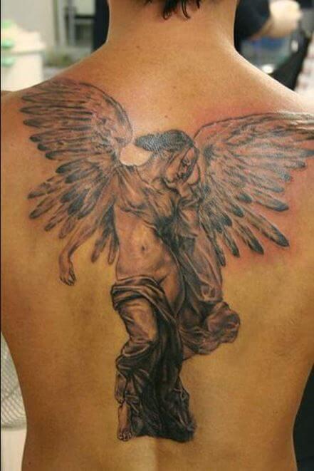 sad Angel Tattoos