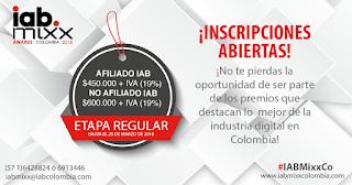 Premios IAB Mixx Colombia 2018