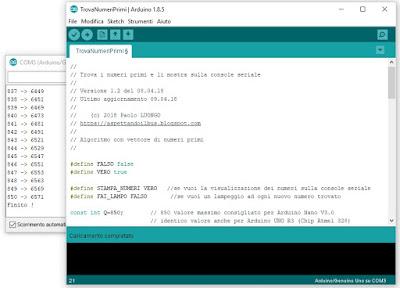 Fig. 6 - L'articolo che parla di come cercare i numeri primi con Arduino - foto di Paolo Luongo