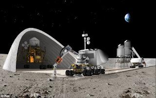 basis robot di bulan