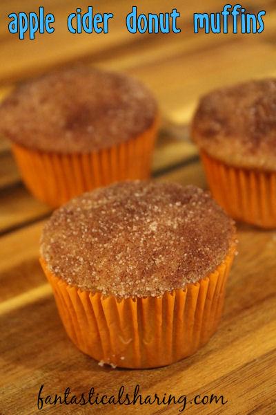 Apple Cider Donut Muffins // Forget pumpkin, these apple cider donut muffins are where it's at! #recipe #breakfast #applecider #apples #muffins