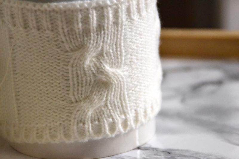 Mug blanc avec tricot dessus Maisons du monde