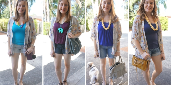 floral kimono 30 wears 4 ways with denim shorts for summer | Away From The Blue
