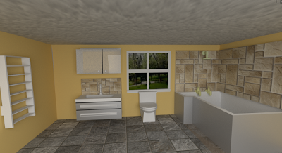 3d model of a bathroom. go blender!