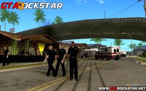 Mod Ser um policial (CJ Policeman) para GTA San Andreas