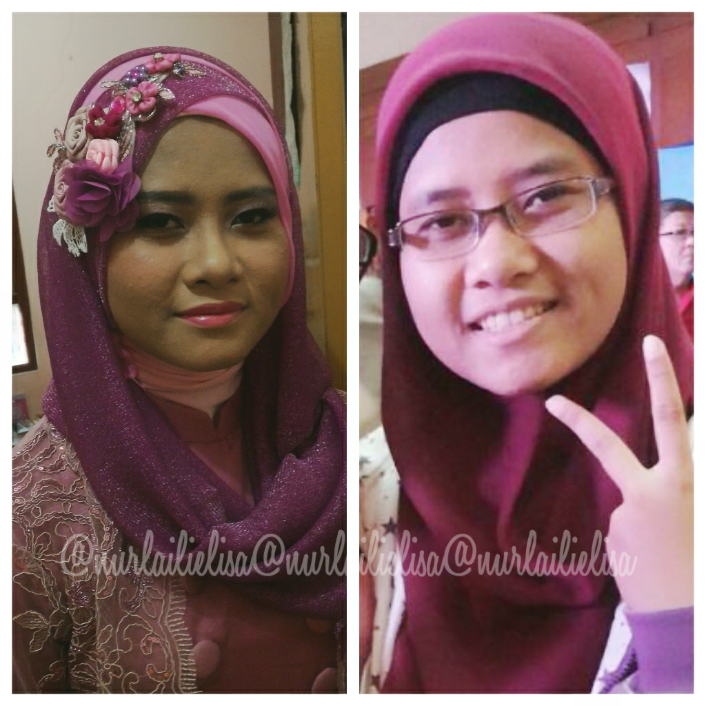 Alice In BeautyLand Before After Make Up And Hijab Do For