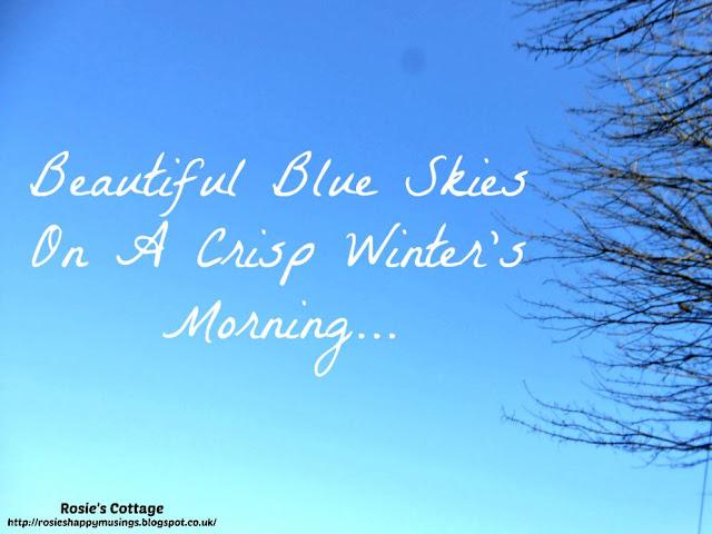 Beautiful Blue Skies On A Crisp Winters Morning