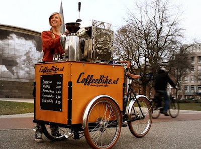 simple coffee truck cart