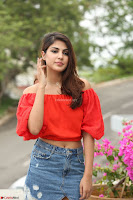 Rhea Chakraborty in Red Crop Top and Denim Shorts Spicy Pics ~  Exclusive 077.JPG
