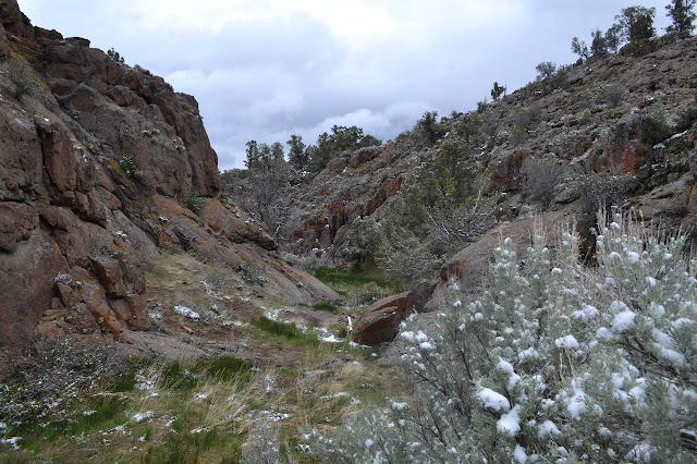 split in the rocks