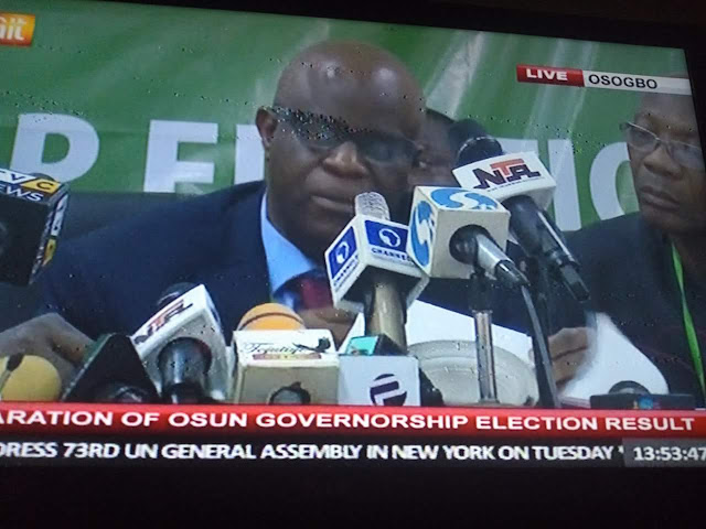 Why INEC declared Osun Election Inconclusive • Rerun to hold only affected areas where elections were cancelled