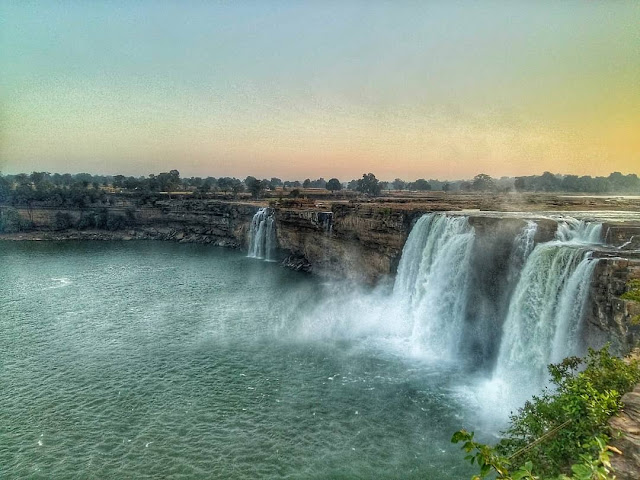 India's widest waterfall Chitrakote Waterfall