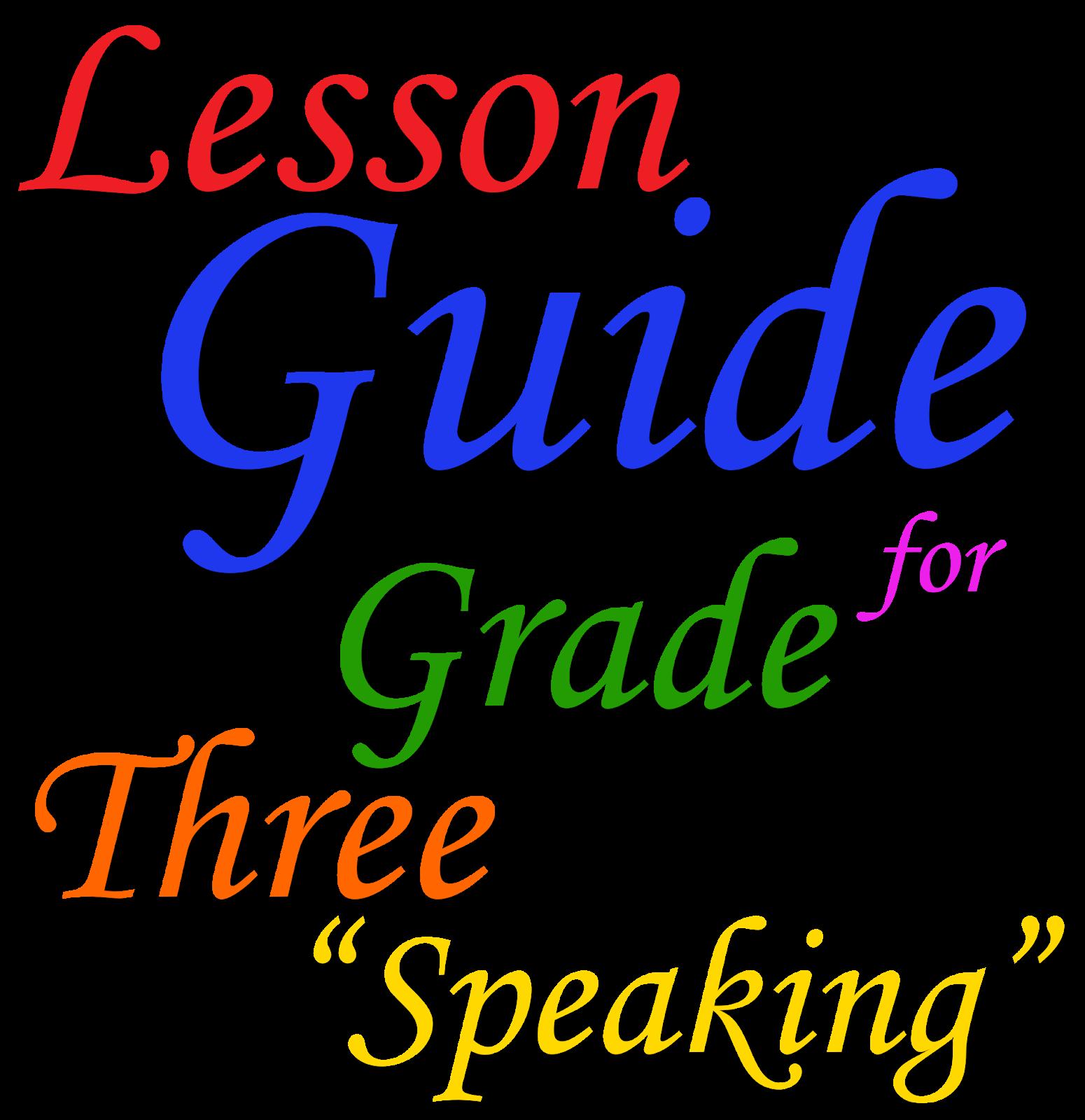 Lesson Guide In English For Grade Three