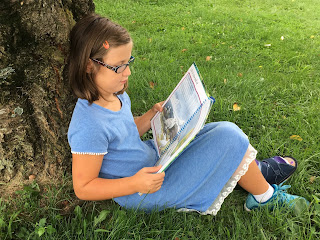 Reading outside makes for a perfect day!