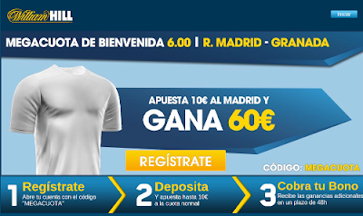 William Hill megacuota 6 Real Madrid gana a Granada 19 septiembre
