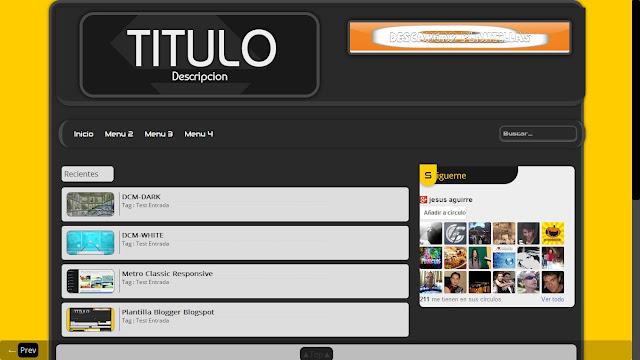 Titulo blogger template
