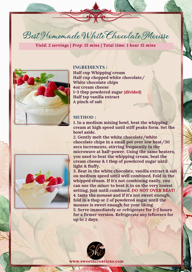 NO.6-BEST HOMEMADE WHITE CHOCOLATE MOUSSE