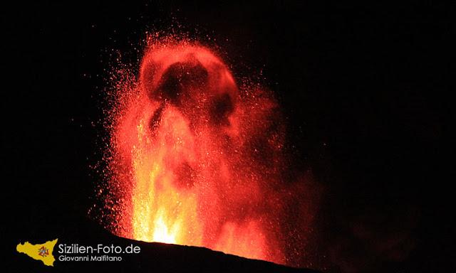 Vulkanausbruch Ätna