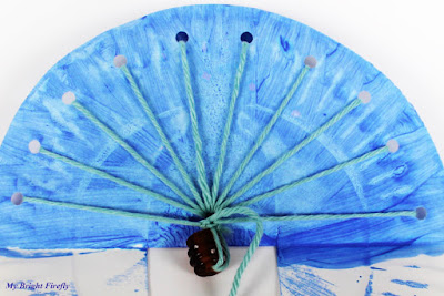 how to make peacock with paper plate