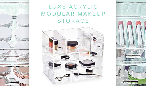 The Container Store Luxe Acrylic Makeup Storage Sale!