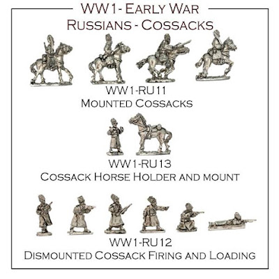 10mm WW1 Russian Cossacks from Kallistra