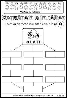 Sequência alfabética letra Q