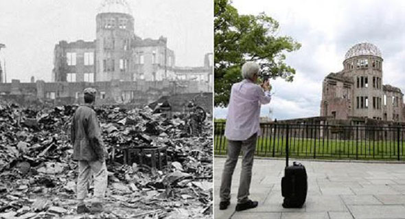 Dulu dan Kini, Foto Dramatis Hiroshima-Nagasaki Setelah Dibom Atom