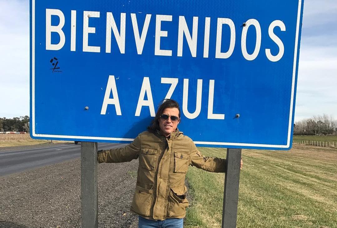 Matías Almeyda en su ciudad natal, Azul.