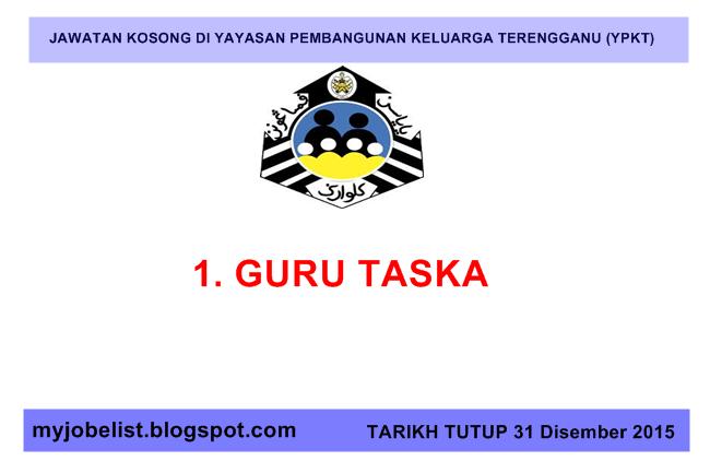 Jawatan Kosong Di Yayasan Pembangunan Keluarga Terengganu Ypkt 31 Disember 2015