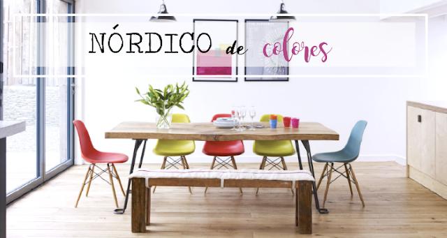 Vivienda nórdica con toques de color /Decoración handmade para hogar y eventos by Habitan2
