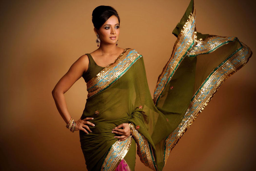 Actress Tanu Roy Hot and Sexy Navel and Thigh Show Stills ...