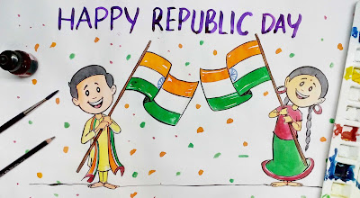 26 January Republic Day Drawings, Paintings, Sketches, Images
