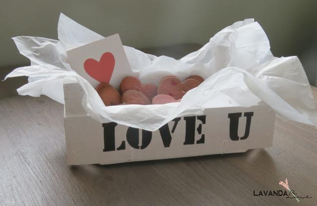caja cookies san valentin