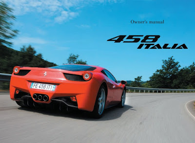 Ferrari 458 Italia Owners Manual