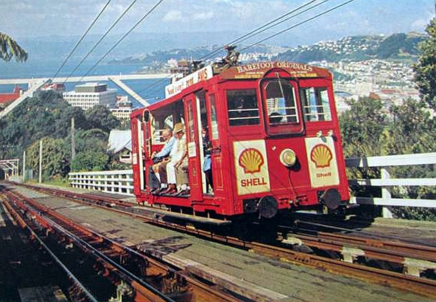 Wellington Cable Car: Transpress Nz: Wellington Cable Car, Mid-1970s