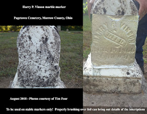 Using aluminum foil to read inscriptions on gravestones