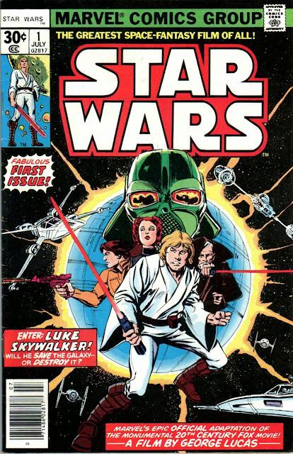 Star Wars v1 #1, 1977 marvel bronze age comic book cover