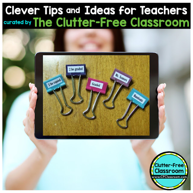 Are you looking for a creative way to organize and display student work? This blog post from the Clutter-Free Classroom shows teachers how to make personalized binder clips using their students' names.