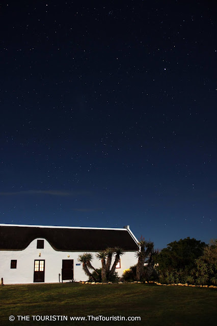The starry night sky over the Vlei Suite at the De Hoop Nature Reserve