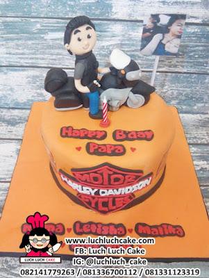 Fondant Birthday Cake Motor Harley Davidson