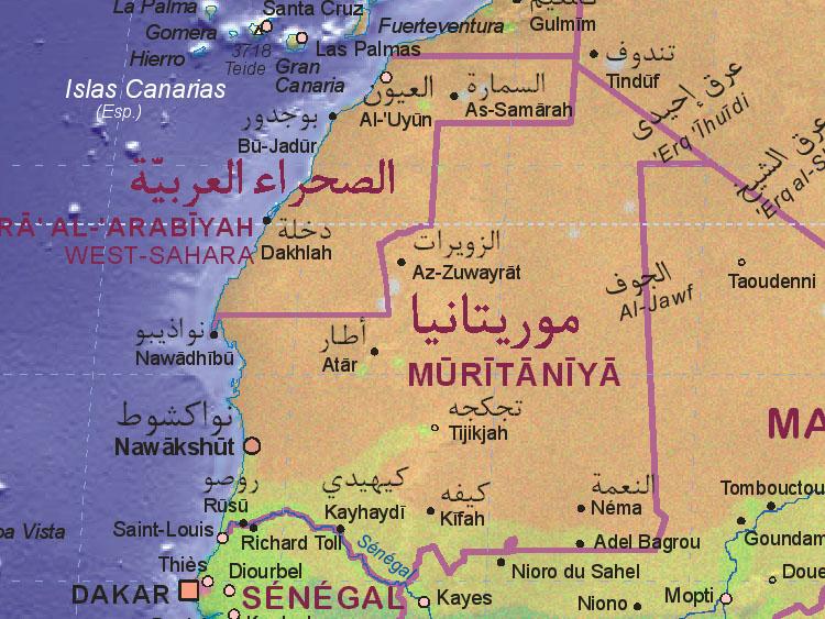 Mauritânia | Mapas Geográficos da Mauritânia