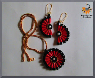 kalanirmitee: paper quilling-quilling ideas-quilled earrings-quilled jewelry-paper beads-paper jewelry- quilling tutorial