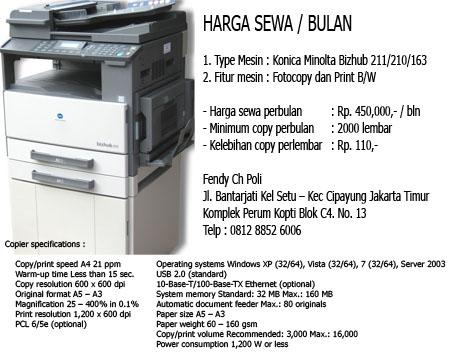 Harga Sewa Fotocopy murah