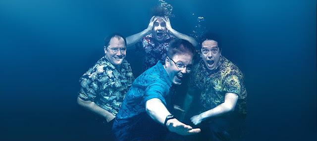 Στην φωτογραφία βλέπουμε τον Τζον Λάσιτερ (επικεφαλής της Pixar) στα αριστερά, και με τη φορά του ρολογιού τους Γκράχαμ Γουόλτερς (παραγωγός), Λι Ούνκριτς (βοηθός σκηνοθέτη), και Άντριου Στάντον (σεναριογράφος και σκηνοθέτης). 10 Πράγματα που Δεν Ξέρατε για την Ταινία Finding Nemo (2003) της Pixar